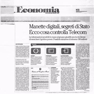 Manette digitali, segreti di Stato Ecco cosa controlla Telecom