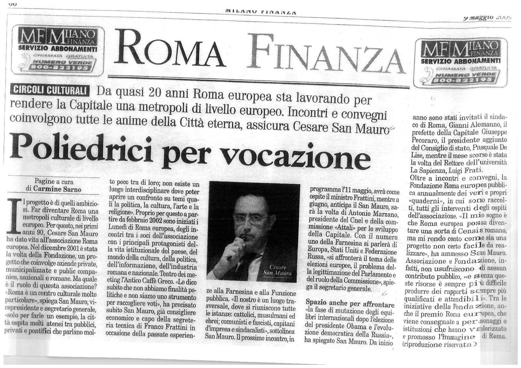 Roma Finanza – Poliedrici per vocazione