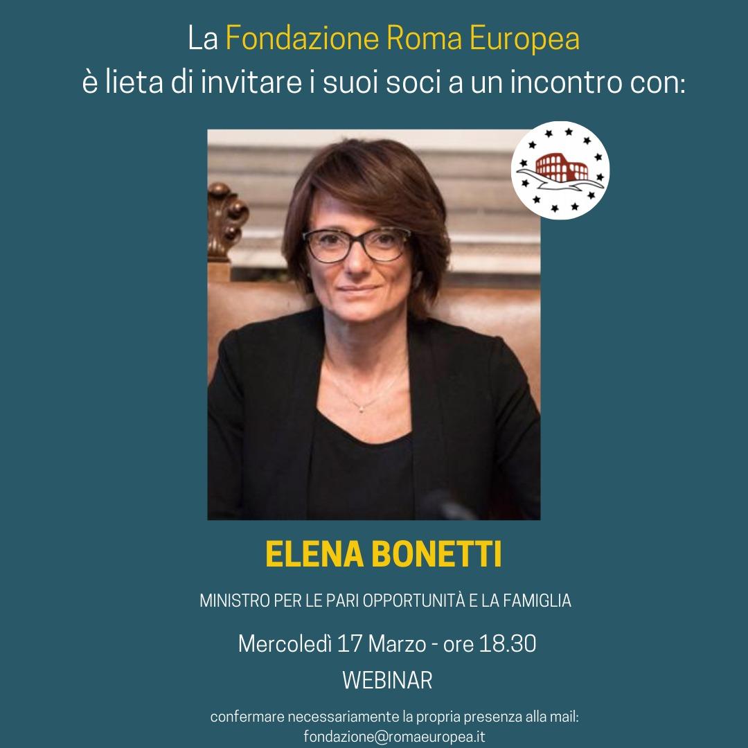 Incontro con Elena Bonetti