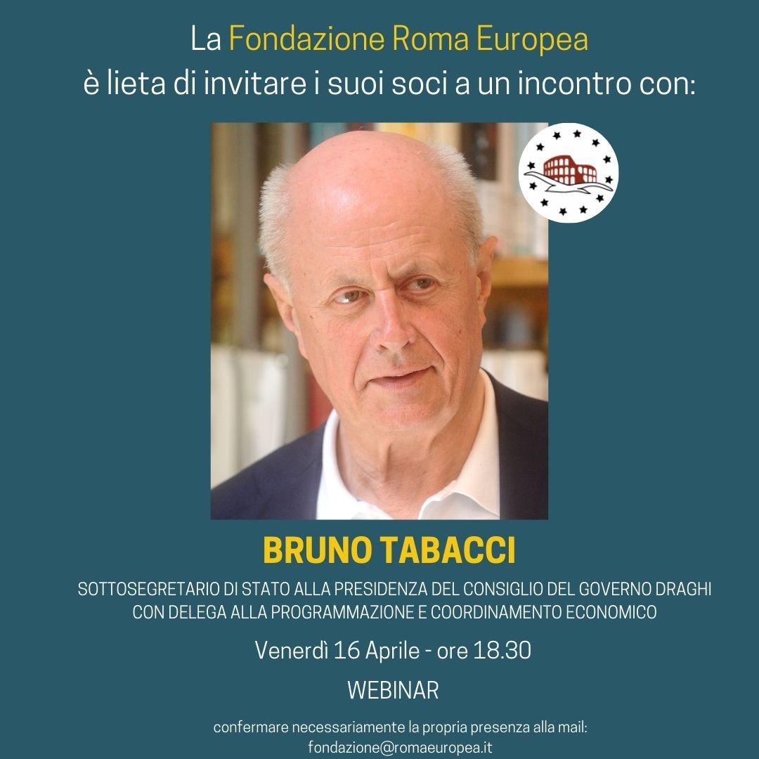 Incontro con Bruno Tabacci