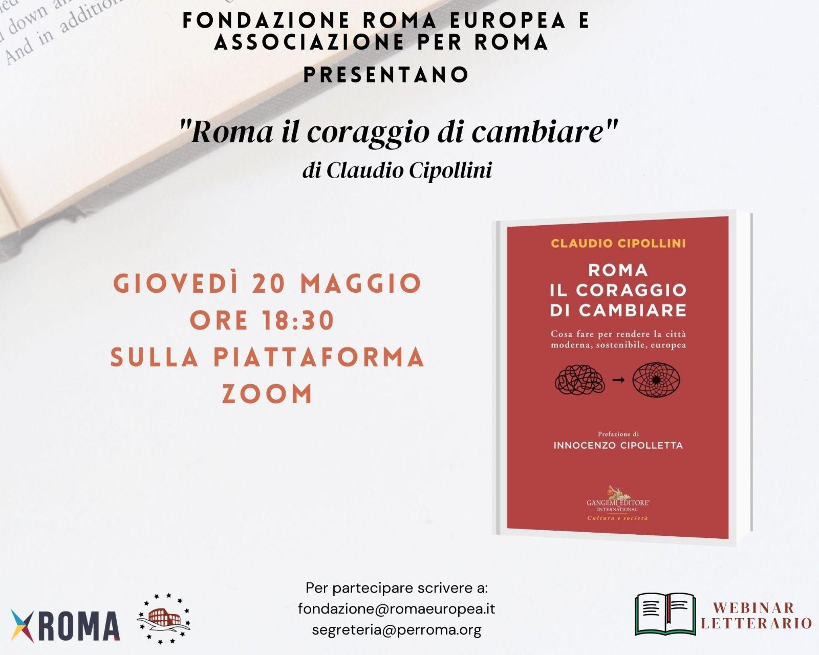 Webinar Letterario – Roma il coraggio di cambiare