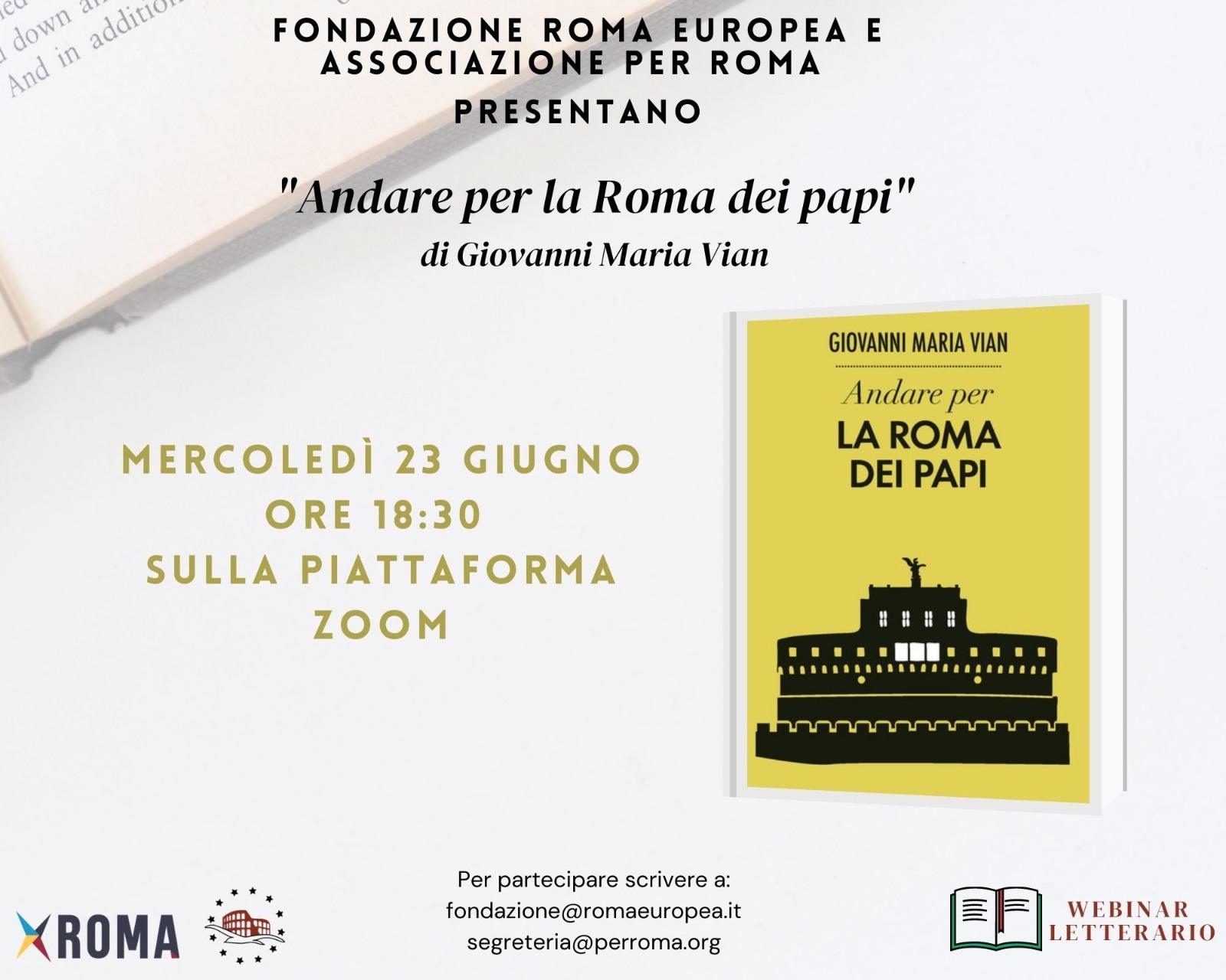 Webinar Letterario – Andare per la Roma dei Papi